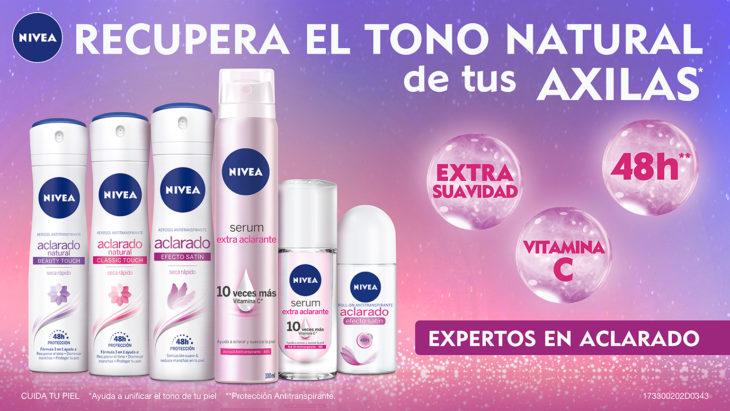 Desodorante NIVEA aclarado natural para el cuidado y blanqueamiento de axilas