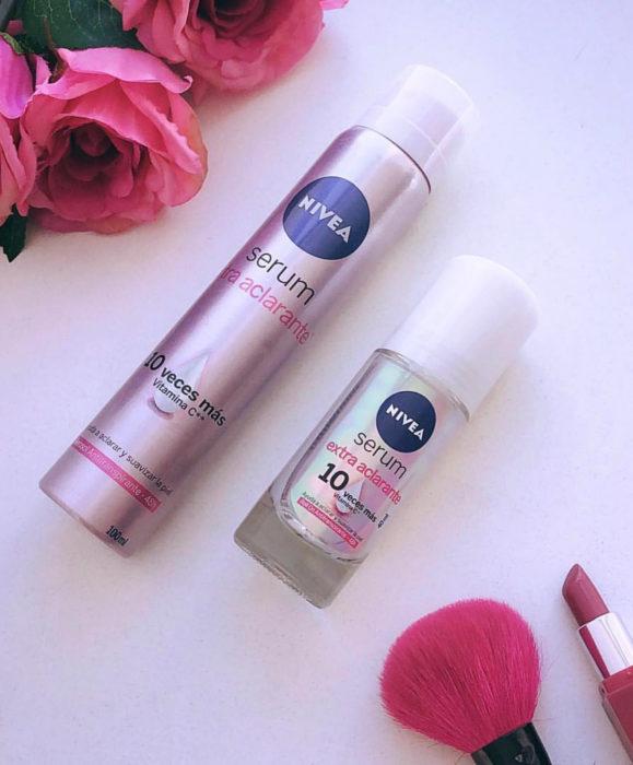 Evitar oscurecimiento de axilas; desodorante serum NIVEA extra aclarante