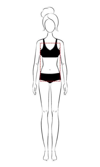 Silueta de cuerpo tipo rectángulo