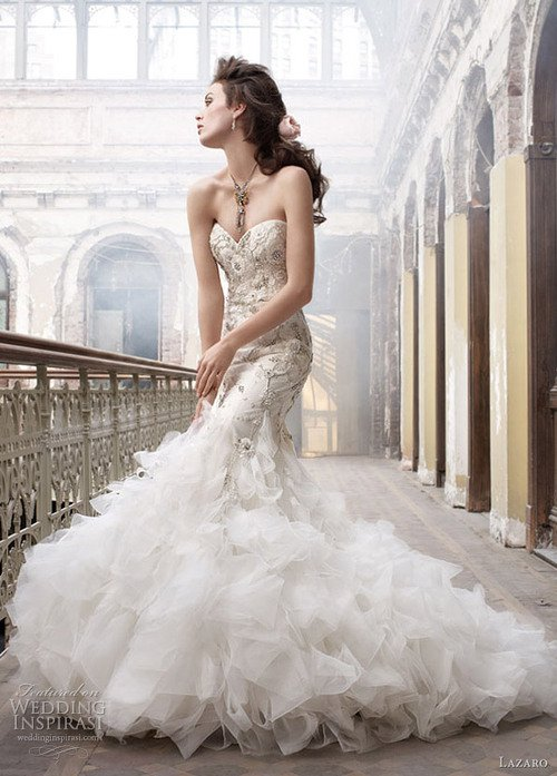 El vestido de novia que te har ver hermosa seg n tu ceurpo for Heart shaped mermaid wedding dresses