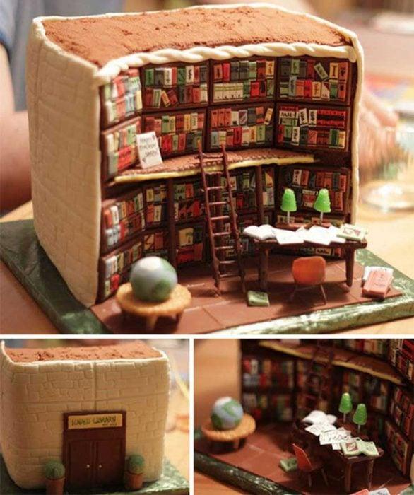 Pastel Biblioteca