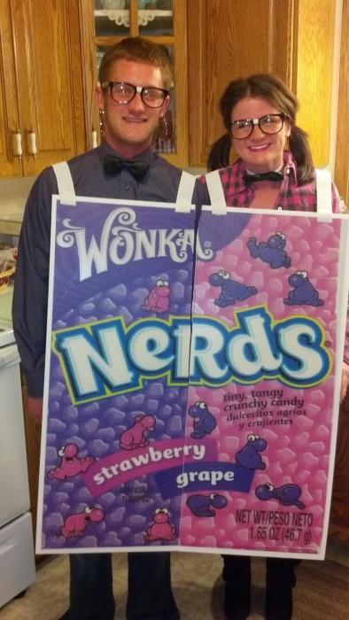 caja de nerds disfraz pareja