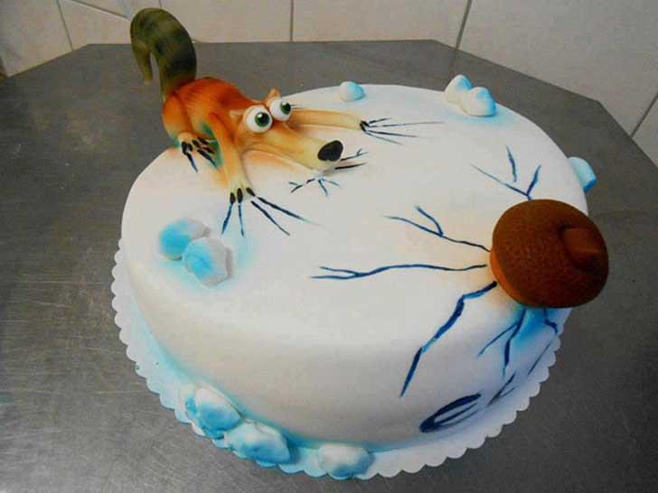 la era el hielo pastel torta