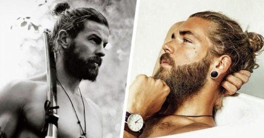 35 Hombres que demuestran que Barba + Colita de cabello = Sexy <3
