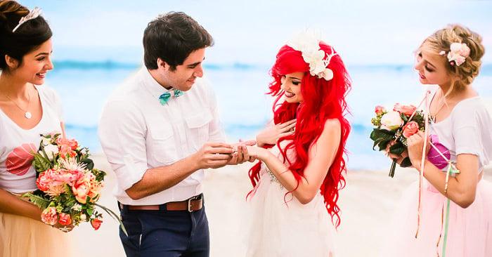 """¿Cómo sería la boda de """"La Sirenita"""" en la vida real? ¡Descúbrelo!"""