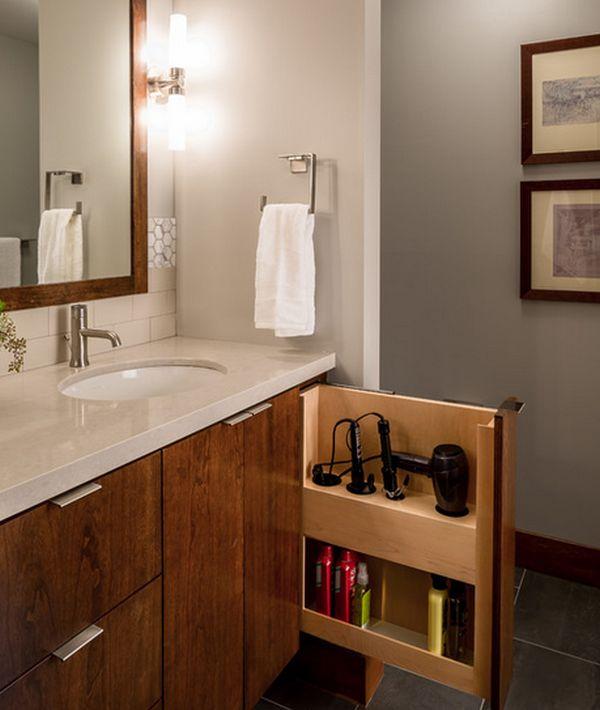 Imagenes De Baño Ocupado:13 Coloca en tu mueble de baño una puerta angosta para artículos