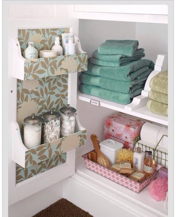 15 ideas sencillas para lograr que tu ba o este organizado - Muebles para toallas ...