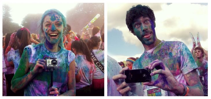 "Couple weds in ""The Color Run"" A colorful athletic career"