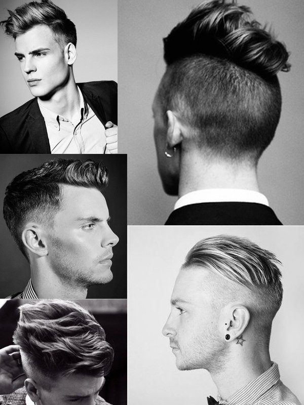 distintos hombres posando para mostrar su cabello