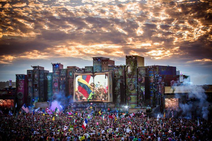 Imagen tomada en un festival de Tomorrowland