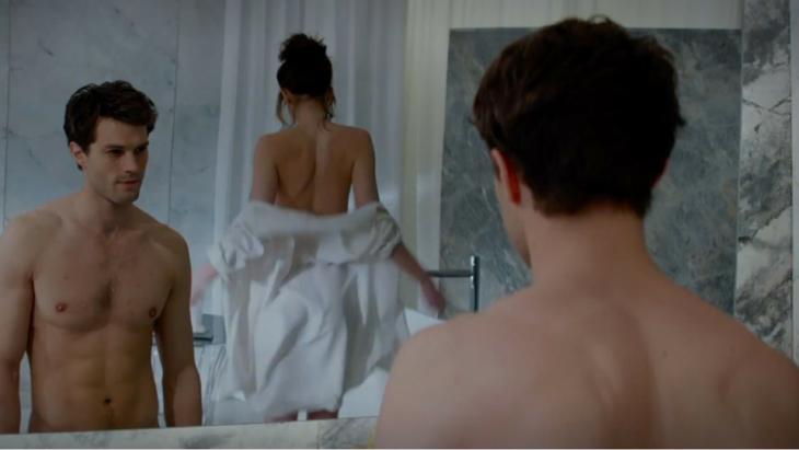 Escena en el baño de la película 50 sombras de grey