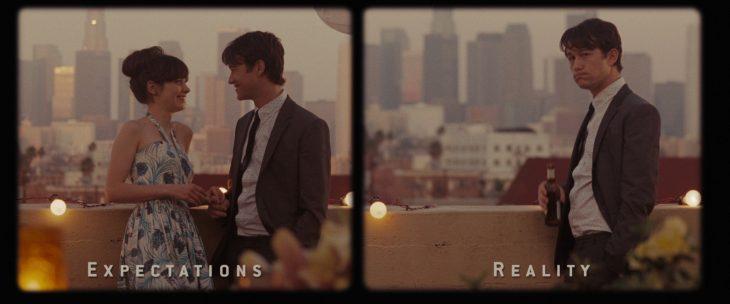 Expectativa y realidad de Tom en la película 500 días con ella