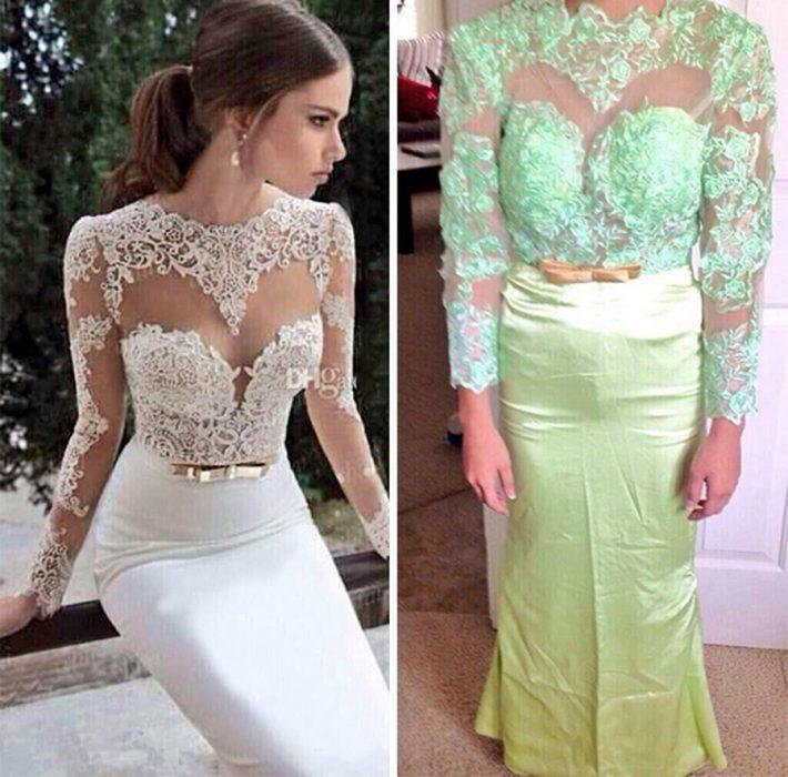 Expectativa vs realidad de un vestido