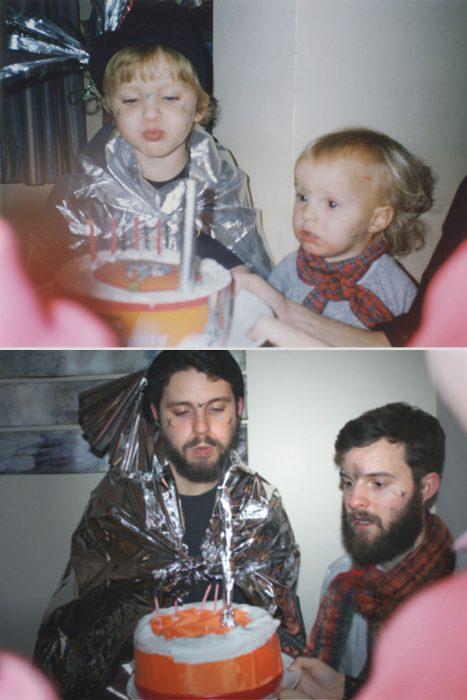Hermanos Luxton en fiesta de cumpleaños