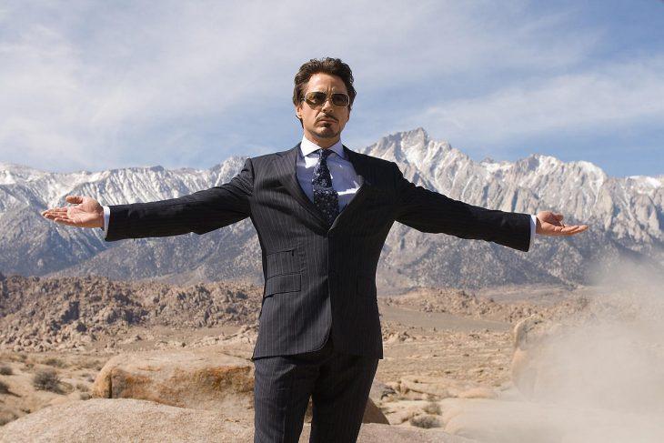 Tony stark de la película Iron Man