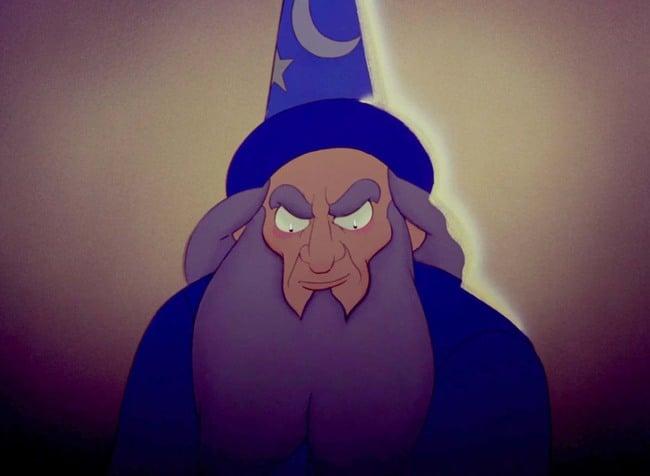 mago de la película de Disney el aprendiz de brujo
