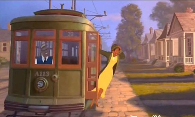 película de Disney en donde una mujer afroamericana se esta bajando de un tren