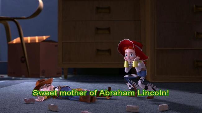 escena de la película Toy Story donde aparecen jesse y woody