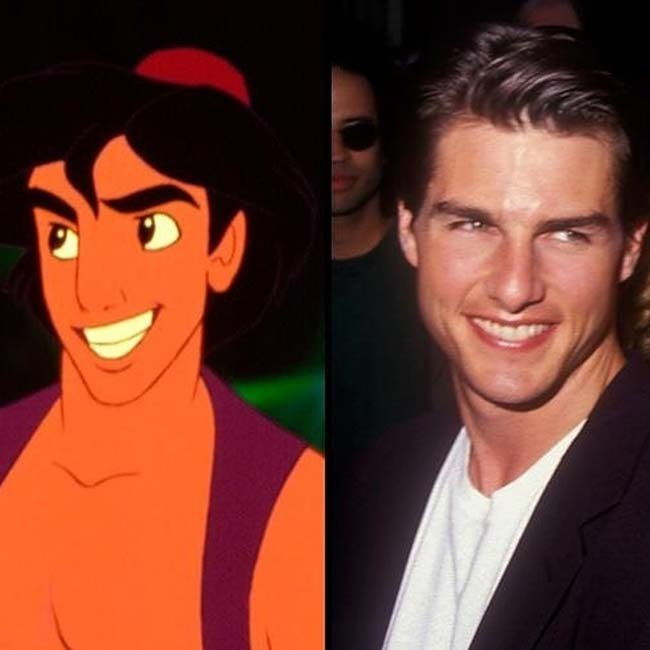 actor tom cruise es comparado con el personaje aladino