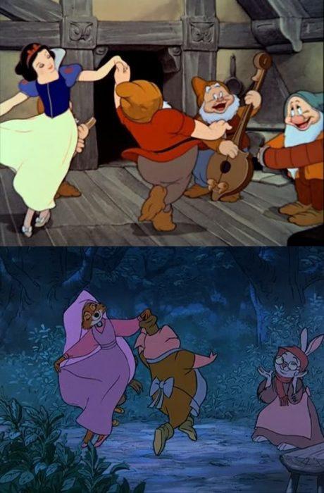 comparación entre blanca nieves y robin hood