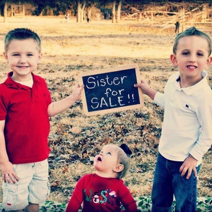 Niños vendiendo a su hermana