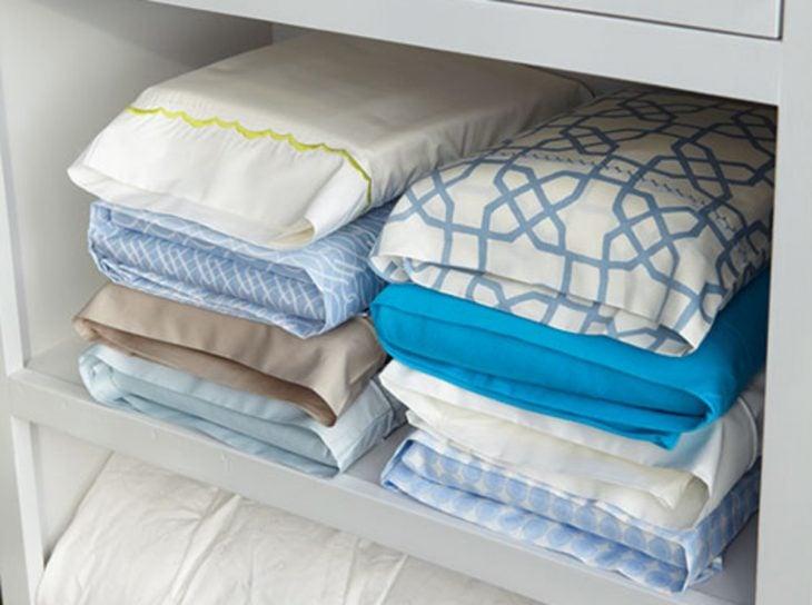Las fundas de almohadas para guardar todo el juego de sabanas
