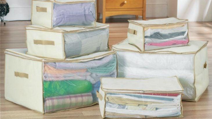 Bolsa de edredones para guardar ropa