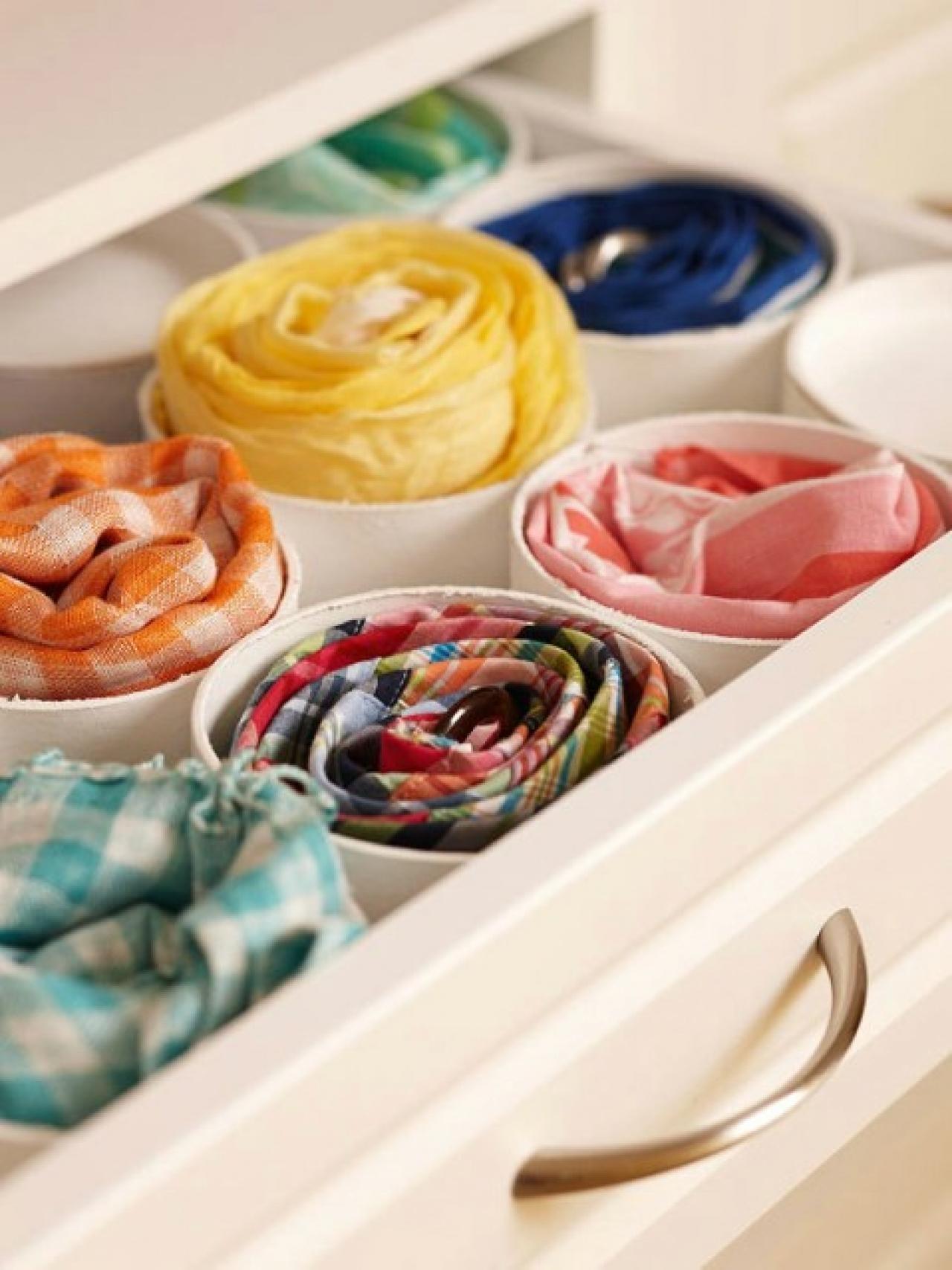 Coloca En Tu Cajón Recipientes Circulares Para Tus Accesorios, Bufandas,  Pañuelos O Cinturones.