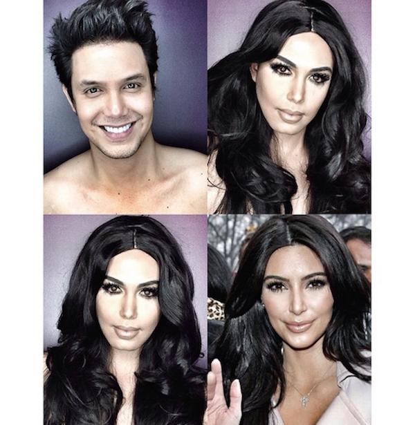 Paolo Ballesteros transformado en Kim Kardashian