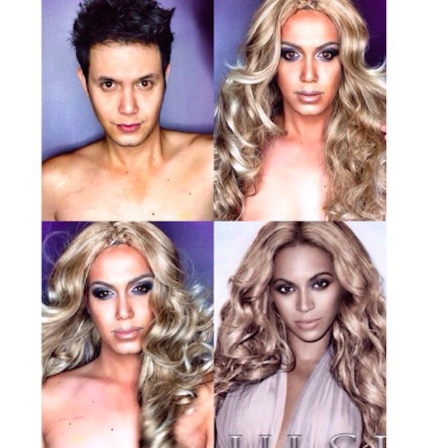 Paolo Ballesteros transformado en Beyoncé