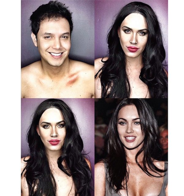 Paolo Ballesteros transformado en Megan Fox