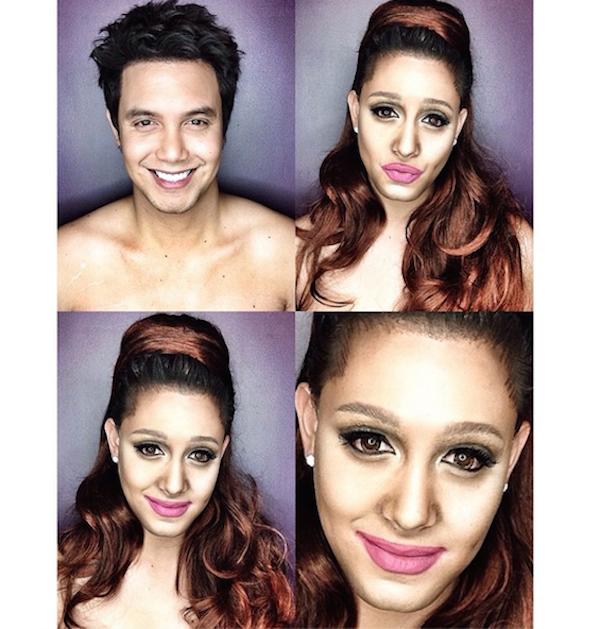 Paolo Ballesteros transformado en Ariana Grande