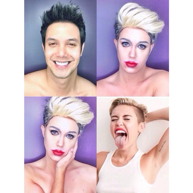 Paolo Ballesteros transformado en Miley Cyrus