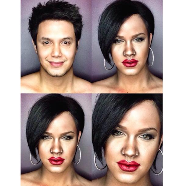 Paolo Ballesteros transformado en Rihanna