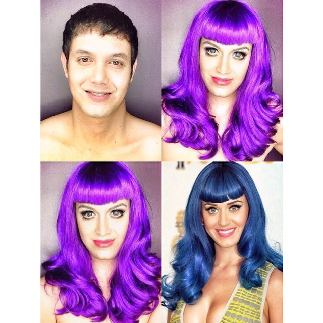 Paolo Ballesteros transformado en Katy Perry