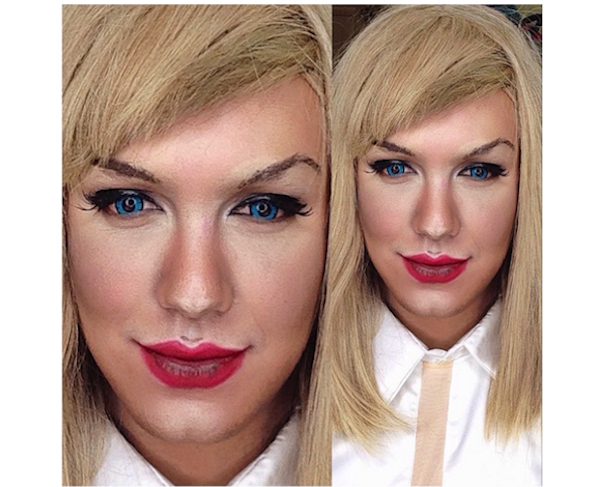 Paolo Ballesteros transformado en Taylor Swift