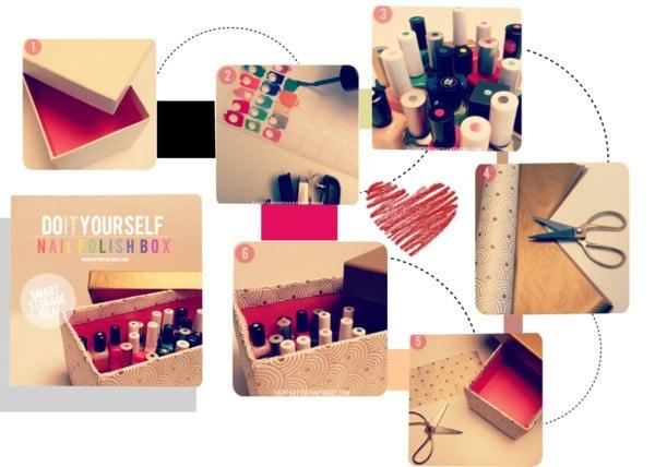 Pasos para organizar tus esmaltes