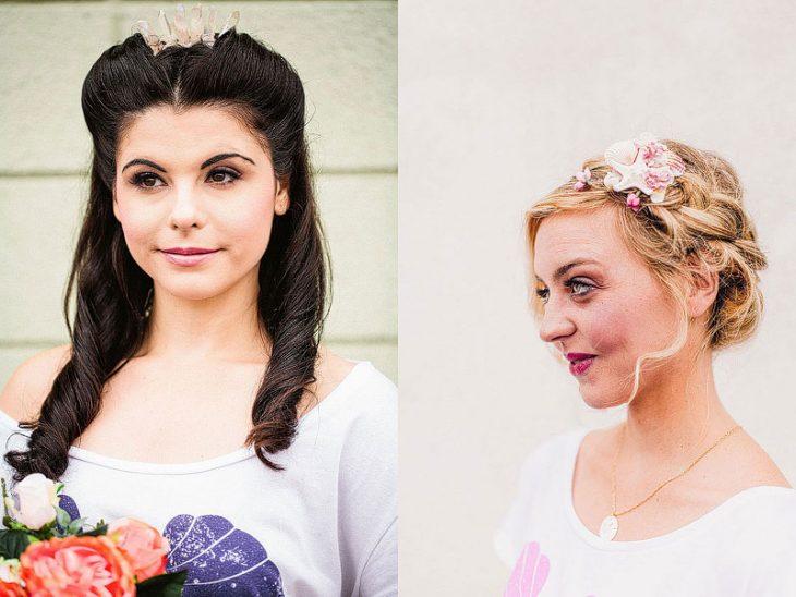 mujeres con peinados distintos