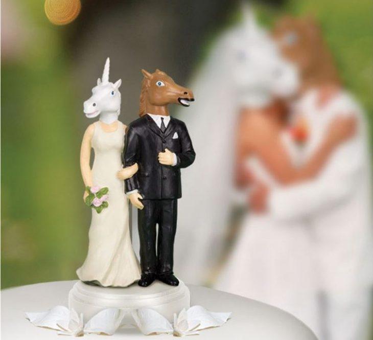 muñecos de pastel de boda con cabeza de cabello