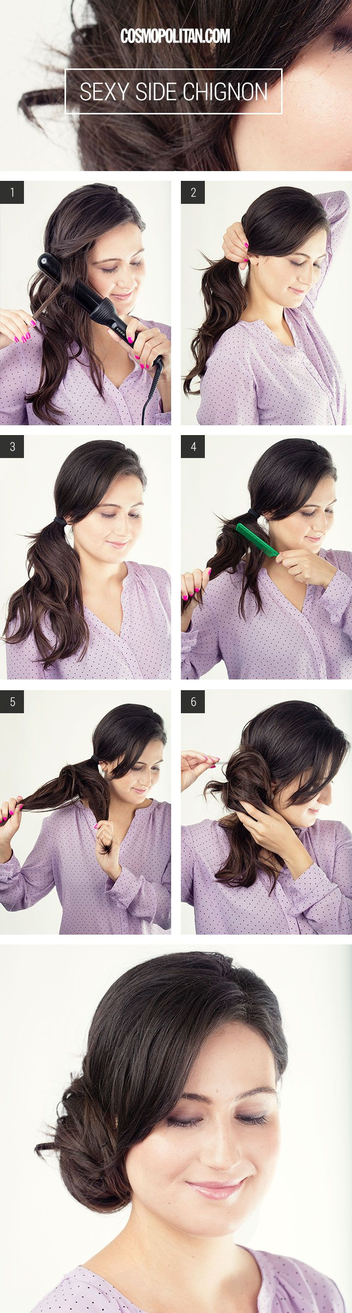 Peinados updo barrer sexy sofisticado