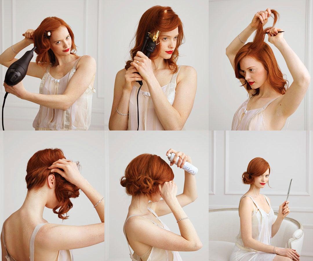 Прическа себе своими руками на средние волосы фото