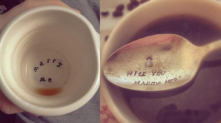 pedir matrimonio dentro del café