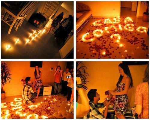 cena romantica pide matrimonio