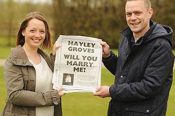 proponer matrimonio en el periodico