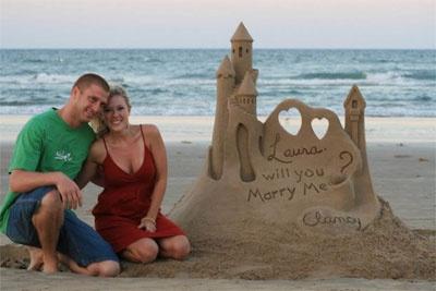 proponer matrimonio en la playa