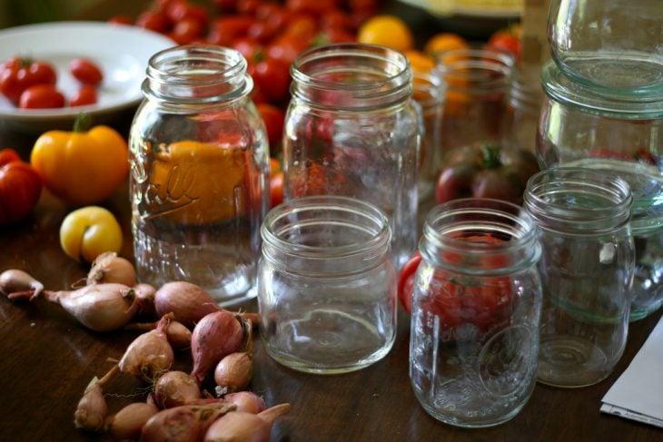 envasar conservar ajos pimientos