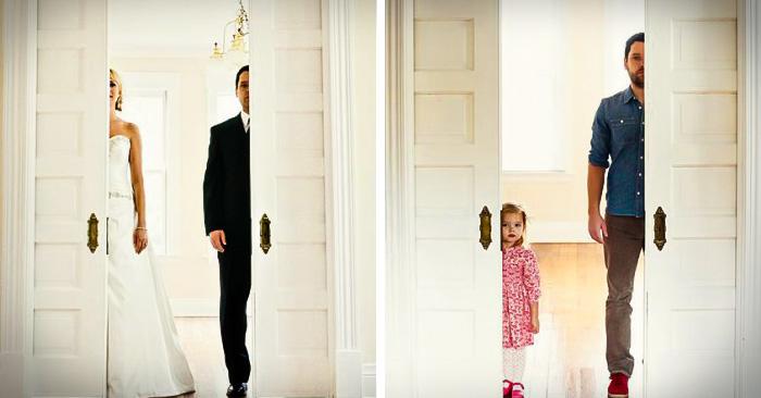 ¡Conmovedor! Padre e hija recrean fotos de boda para darle el último adiós a su esposa