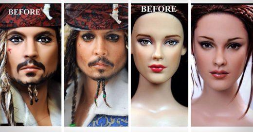 Famosos artistas convertidos en muñecos