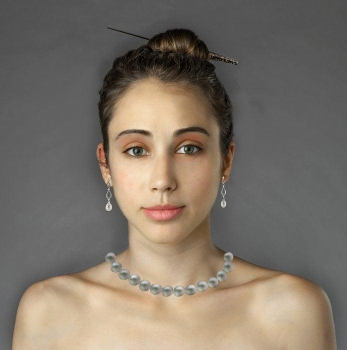 Photoshop de Esther Honig representando a Chile