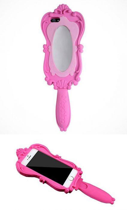 Funda para celular espejo